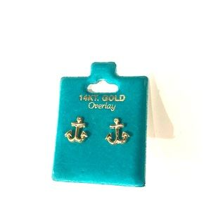Jewelry - 14K Gold plates anchor earrings